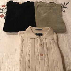 HOTSALE Perry Ellis &LOGG Mens3 Sweaters sL XL